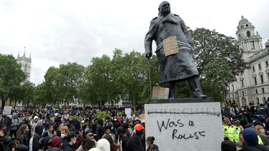 News Update Protest Threat To Churchill Statue Shameful, Say, Boris Johnson